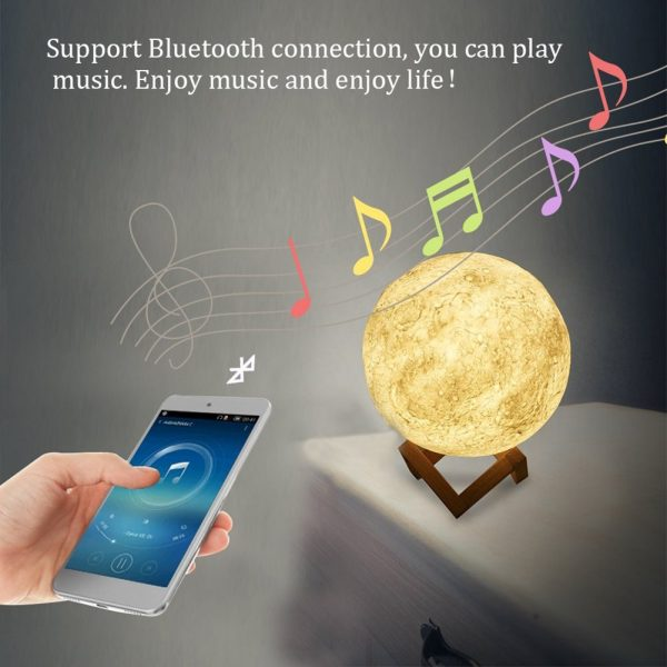 3d moon lamp with speaker