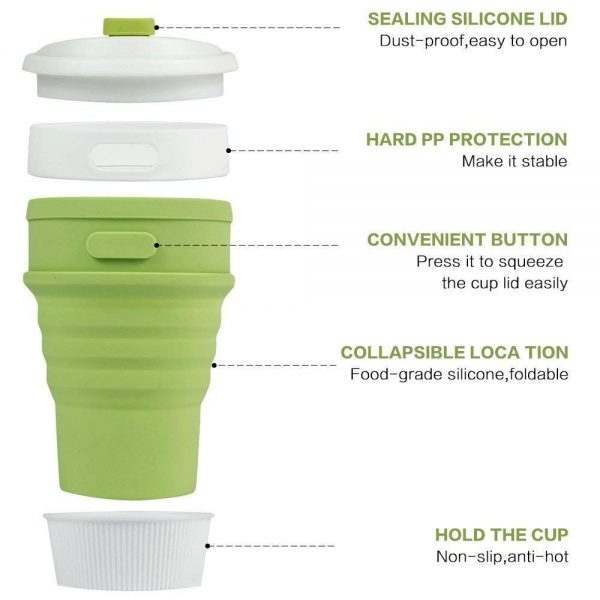 silicon foldable mug