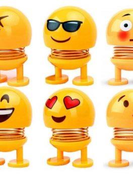 spring smiley emoji for car